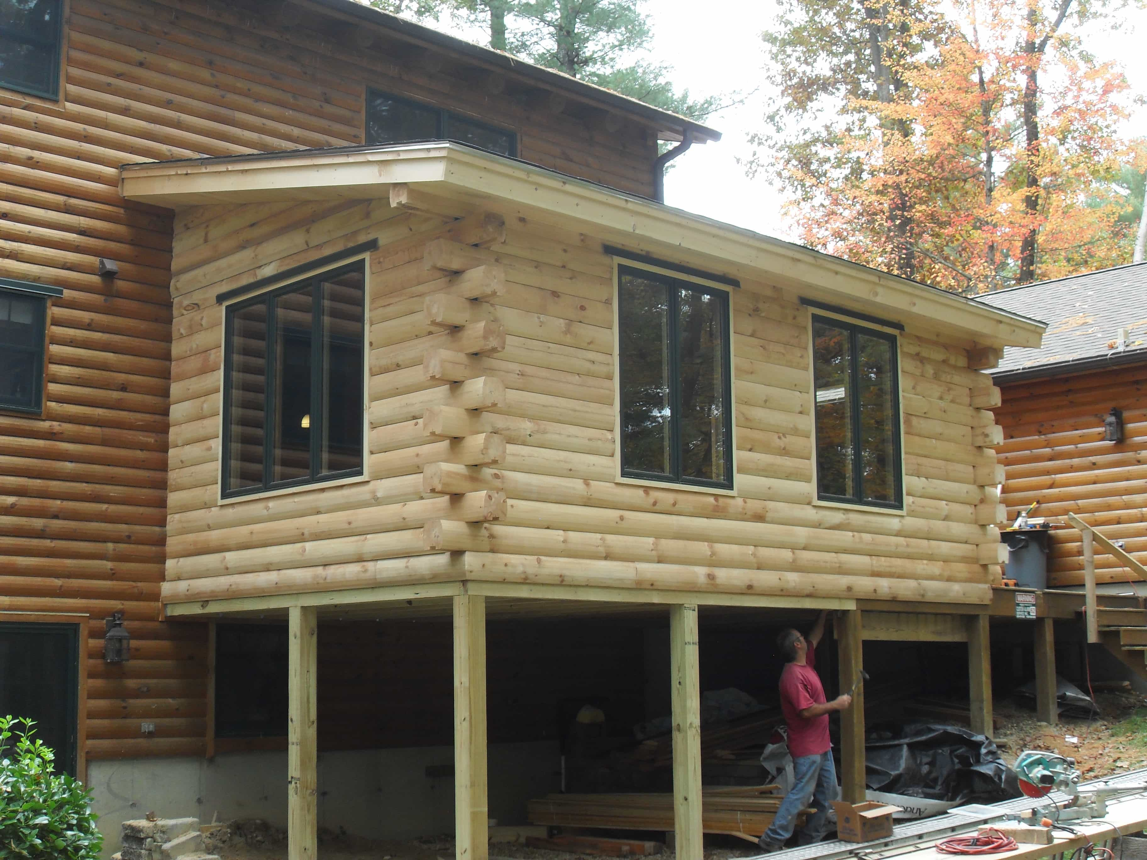 Home addition services extra bedroom or additional work for Log cabin sunrooms